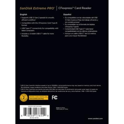 קורא כרטיסי זיכרון SanDisk Extreme PRO CFexpress